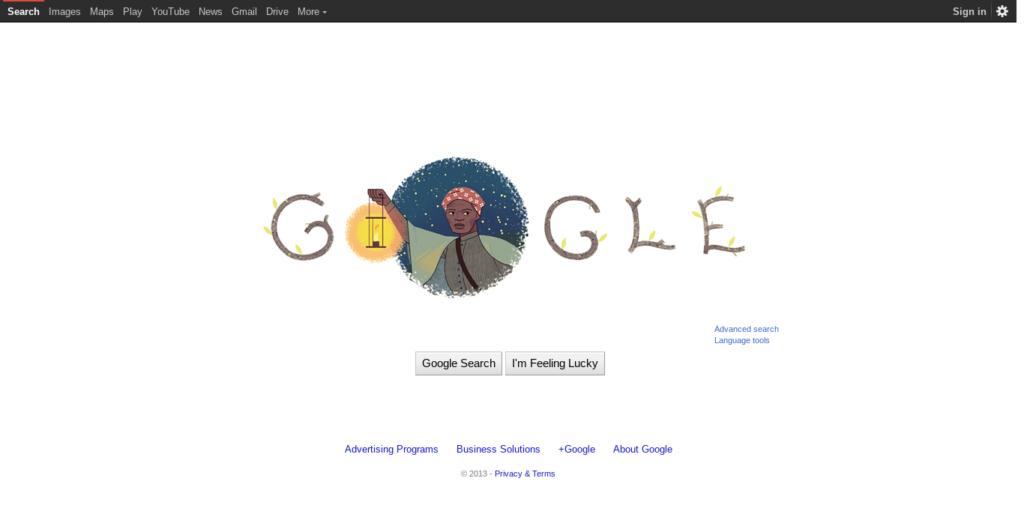 screenshot of google.com with black top nav