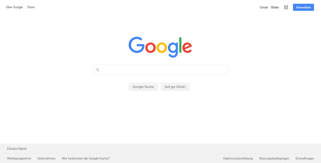 screenshot of google.com 2020