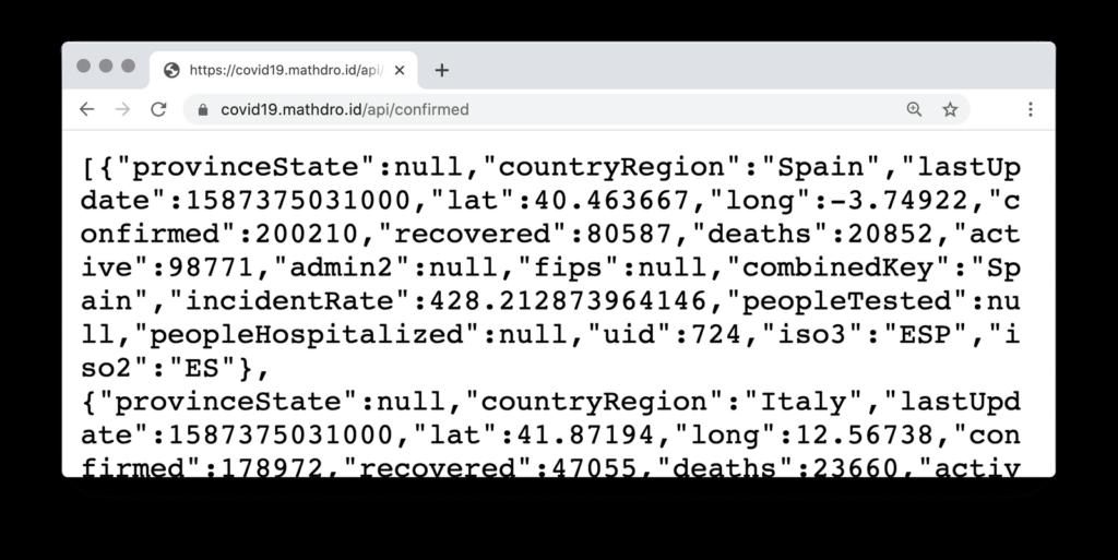 screenshot Mathdroid API