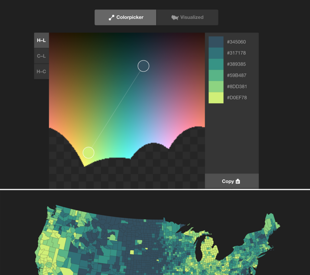 Colorpicker for data