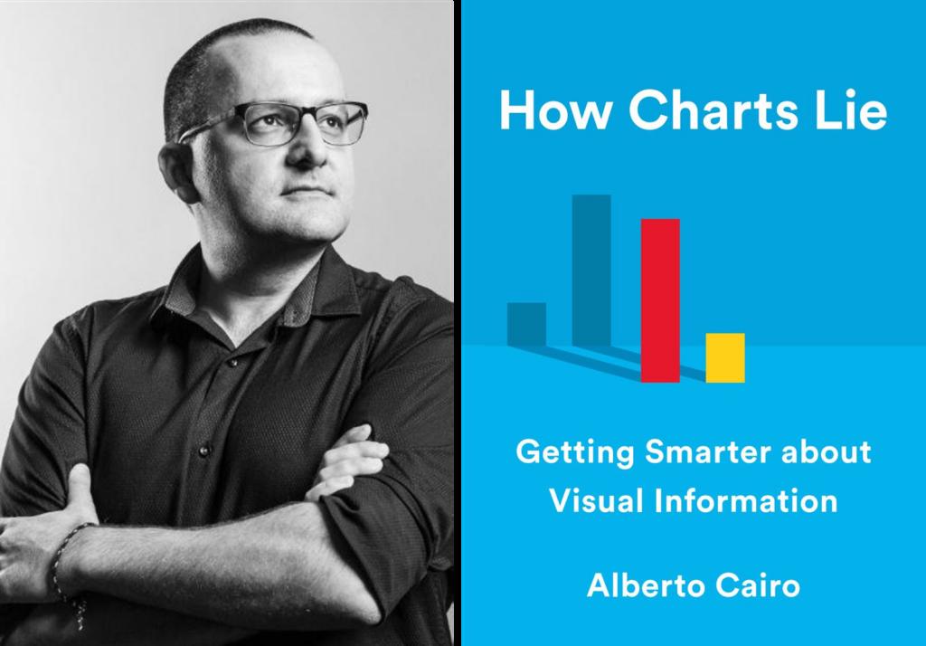 data vis book club cover and Alberto Cairo