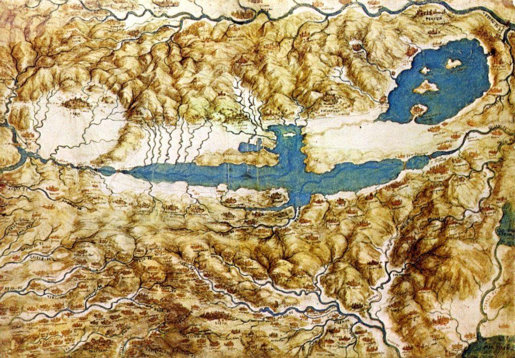 Leonardo da Vinci map