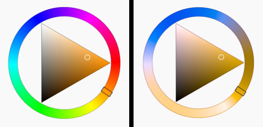 HLS color wheel