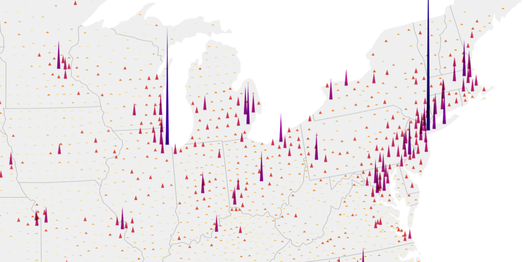 Header image showing a spike map