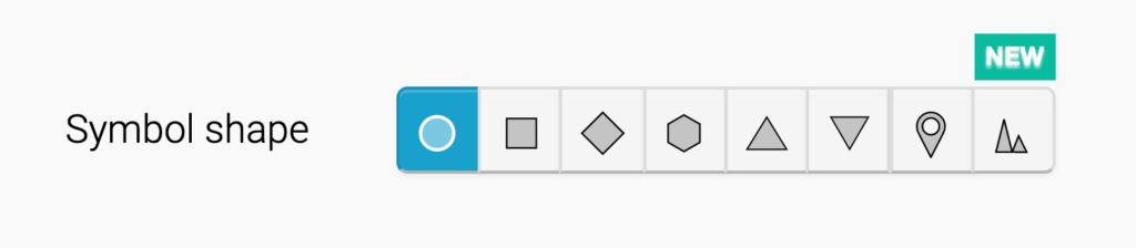 interface symbol shape menu