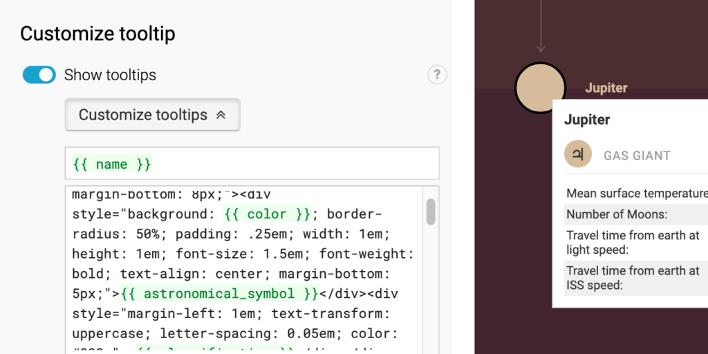 tooltip and tooltip editor