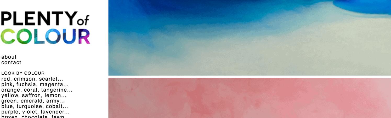 Plenty of Colour blog screenshot