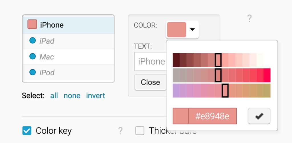 HCL color picker in Datawrapper
