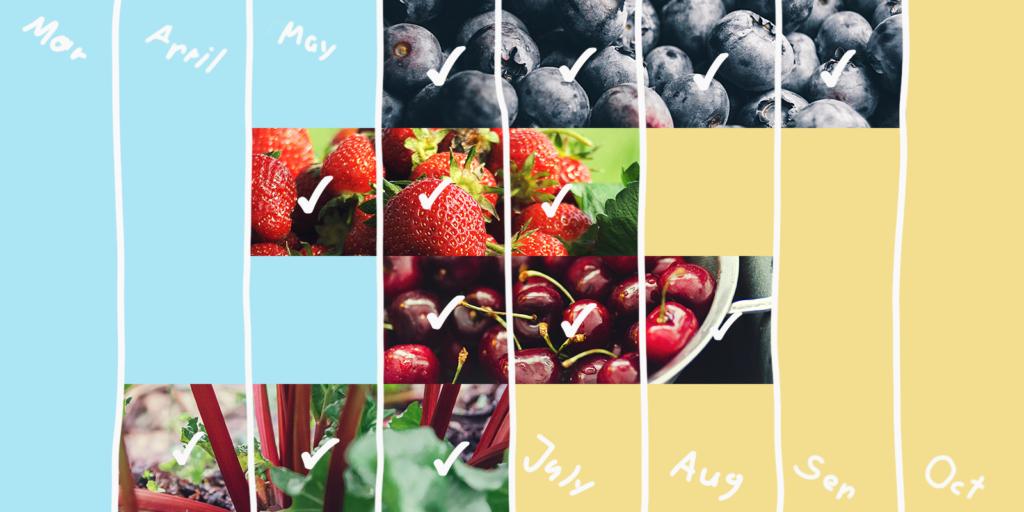 A seasonal fruits calendar