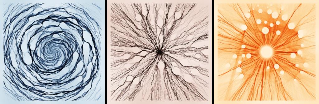 "creative art by Nadieh Bremer, ""Elemental Flows"""